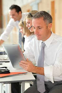 More executives are using their personal iPad for business functions and looking to implement the device companywide.