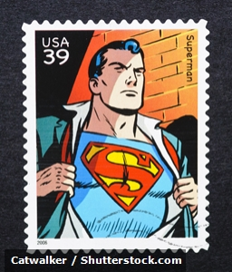 Superman stamp