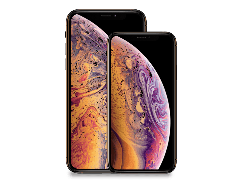 Size comparison between iPhone XS and iPhone XS Max.